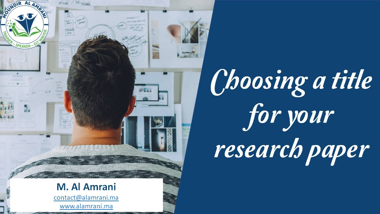 Choosing a title for your research paper: basic tips