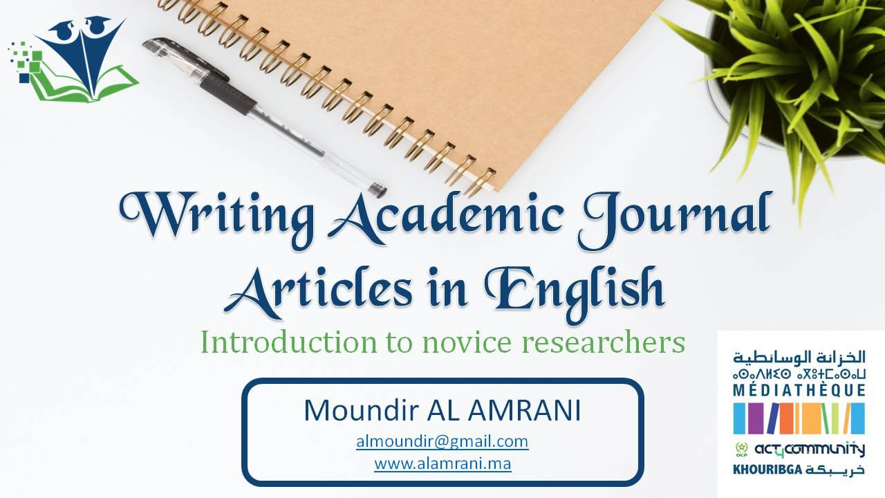Rédaction des articles académiques en anglais